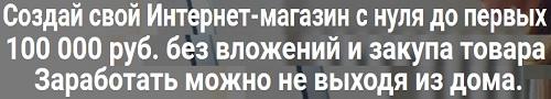 создай свой интернет-магазин с нуля до первых 100 000 руб. без вложений
