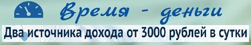 Время- деньги. Два источника дохода от 3000 рублей в сутки