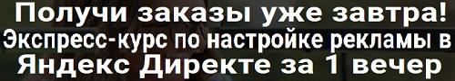 курс по настройке рекламы в Яндекс Директе за 1 вечер
