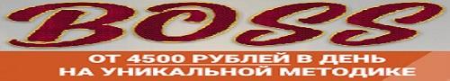 БОСС заработок от 4500 рублей в день в автоматическом режиме